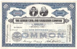 The Lehigh Coal and Navigation Company Stock Certificate