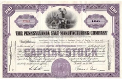 The Pennsylvania Salt Manufacturing Company Stock - Purple