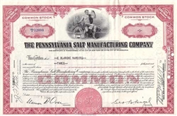 The Pennsylvania Salt Manufacturing Company Stock - Red