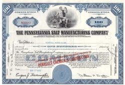 The Pennsylvania Salt Manufacturing Company Stock - Blue