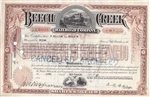 Beech Creek Railroad Company Stock Certificate