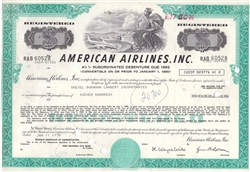 American Airlines Inc.  Stock Certificate