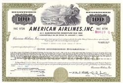 American Airlines Inc. Bond Certificate Olive