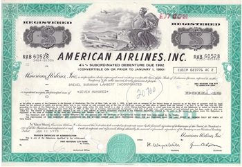 American Airlines Inc. Bond Certificate