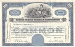 Boston Herald Traveler Corporation Stock Certificate Blue