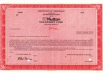 E.F. Hutton Corporate Tax Exempt Fund Specimen Certificate