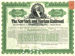 New York and Harlem Railroad Company Bond Certificate