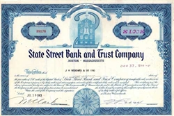 State Street Bank and Trust Stock Certificate