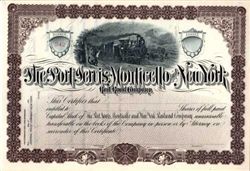 Port Jervis Monticello & New York Rail Road Group - 1880s