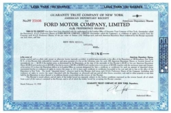 Ford Motor Company, Limited Certificate