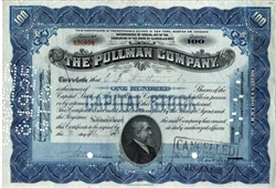 The Pullman Company Stock Certificate - Issued EF Hutton
