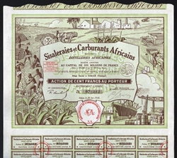 African Distillery Bond Certificate 1928- Yellow