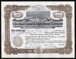 Cleveland Canal & Agricultural Co. Certificate - Territory of Utah