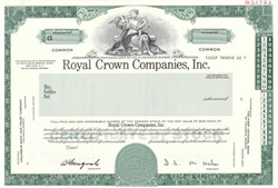 Royal Crown Stock Certificate - Specimen