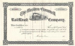 The Meriden and Cromwell Rail Road Company Stock Certificate - 1880s