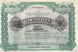 The Louisville Jeffersonville  Bridge Company Stock Certificate 1800s