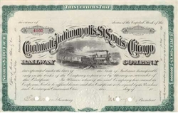 The Cincinnati, Indianapolis, St. Louis, & Chicago Railway Company - 1800s