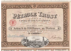 Petrole Trust French Oil Bond - 1924
