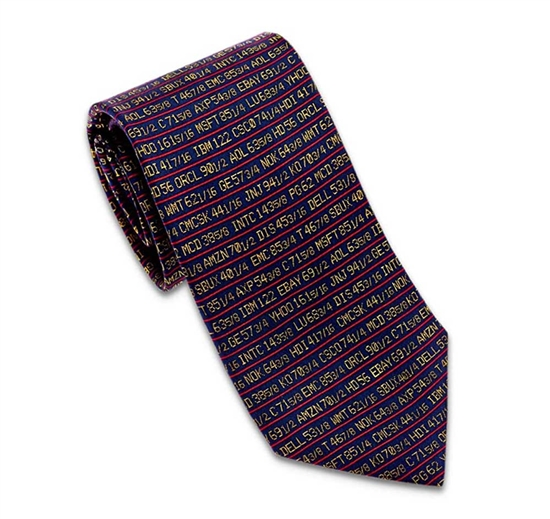 Stock Ticker Tie