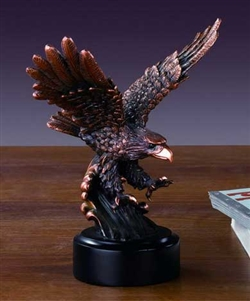 "6"" Bronze Finished Swooping Eagle Statue Figurine"