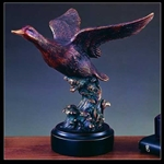 "9"" Flying Duck Statue - Bronzed Sculpture"