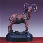 Bronze Finished Ram Statue - Bighorn Sheep Figurine