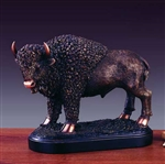 "11"" Buffalo Statue - Bronzed Sculpture"