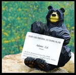 "4""W x 5""H Bear Business Card Holder"