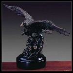 "8"" Bronze Finish Eagle Statue - Figurine"
