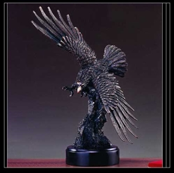 "17"" Wing Spread Eagle Statue in Bronze Finish - Sculpture"