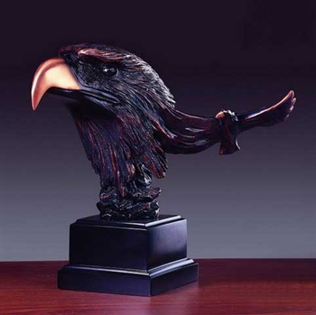 "10"" Bronze Finish Eagle Head Figurine - Statue"