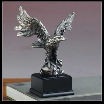 "7.5"" Eagle Statue - Pewter Finish Figurine"
