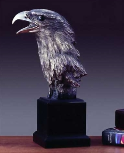 "11"" Screeching Eagle Head Statue - Sculpture"