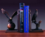 Bronze Finish Eagle Statue Bookends