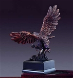 "7"" Bronze Finished Preying Eagle Statue - Figurine"