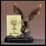 "10"" Bronze Finished Eagle Statue Picture Frame - Figurine"