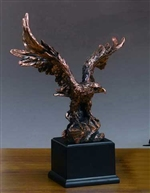 "19"" Bronzed Finish Bald Eagle Statue – Sculpture"