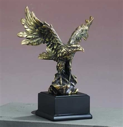 "7"" Antique Gold Eagle Statue - Figurine"