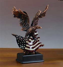 "14"" American Flag and Eagle Statue - Figurine"