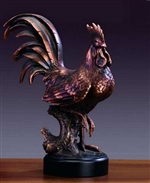 "14"" Large Rooster Statue - Rooster Sculpture"