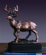 White Tail Deer Statue - Bronzed Sculpture