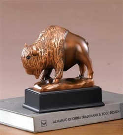 "7"" Buffalo Statue - Bronzed Sculpture"