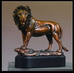 "8.5"" Lion Statue - Bronzed Sculpture"