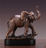 "12"" Proud Elephant Statue - Bronzed Sculpture"
