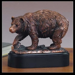 Brown Bear Statue - Bronzed Sculpture
