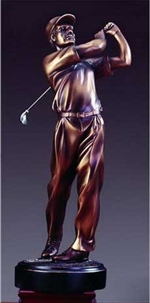 "18"" Golf Trophy - Bronzed Statue"