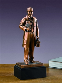 Medical Doctor Statue - Bronzed Doctor Figurine