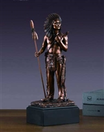 Native American Indian Hero Statue - Bronzed Figurine