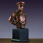 Police Officer Statue - Bronzed Police Officer Figurine
