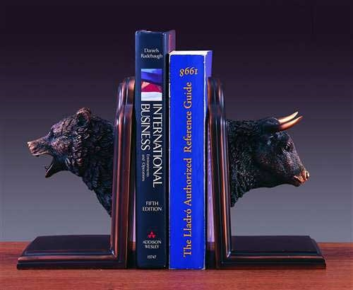 Charmant Bull And Bear Head Bookends